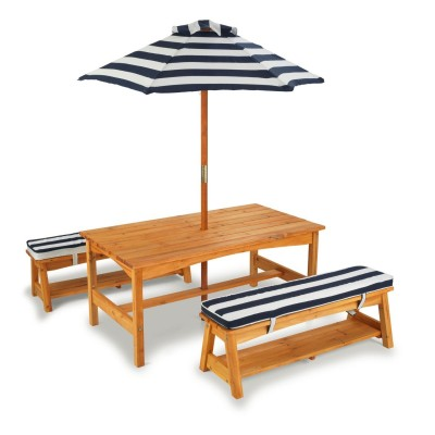Set klopi in mize KidKraft - Navy & White
