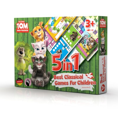 TALKING TOM AND FRIENDS SET DRUŽABNIH IGER 5 v 1