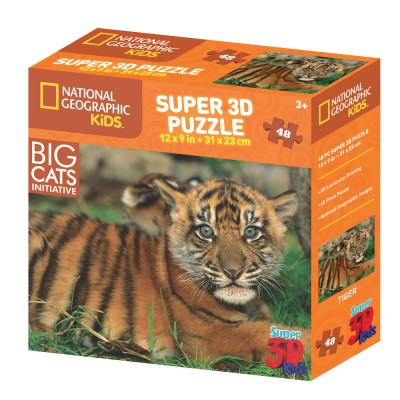 PUZZLE 3D - NAT.  GEOGRAPHIC KIDS - TIGAR 48 KOM