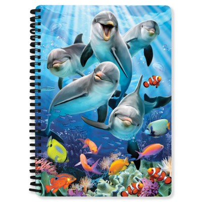 3D NOTEBOOK A5 80L - HR - DOLPHIN DELIGHT SELFIE