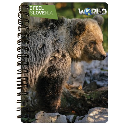 3D NOTEBOOK A6 50L - RJAVI MEDVED I FEEL SLOVENIA