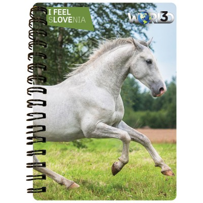 3D NOTEBOOK A6 50L - LIPICANEC I FEEL SLOVENIA