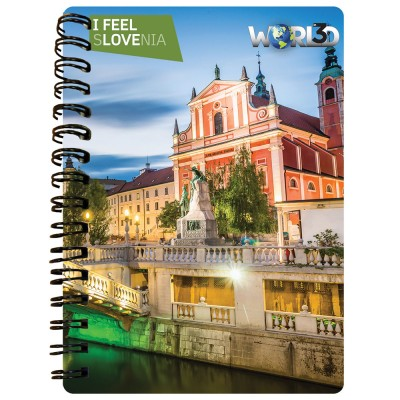 3D NOTEBOOK A6 50L - LJUBLJANA I FEEL SLOVENIA
