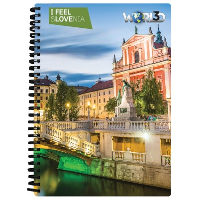 3D NOTEBOOK A5 80L - LJUBLJANA I FEEL SLOVENIA