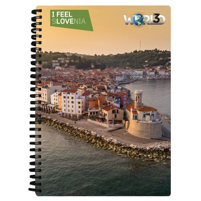 3D NOTEBOOK A5 80L - PIRAN-NOVO I FEEL SLOVENIA