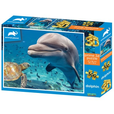 SESTAVLJANKA 3D - DELFIN 500 KOS 61x46cm ANIMAL PLANET