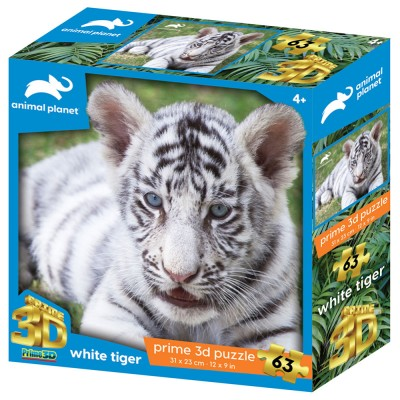SESTAVLJANKA 3D - BELI TIGER 63 KOS 31x23cm ANIMAL PLANET