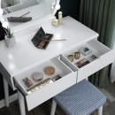 table vanity with lights