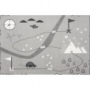 Preproga Treasure Map Gray 140x190cm
