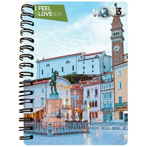 3D NOTEBOOK A6 50L - PIRAN I FEEL SLOVENIA