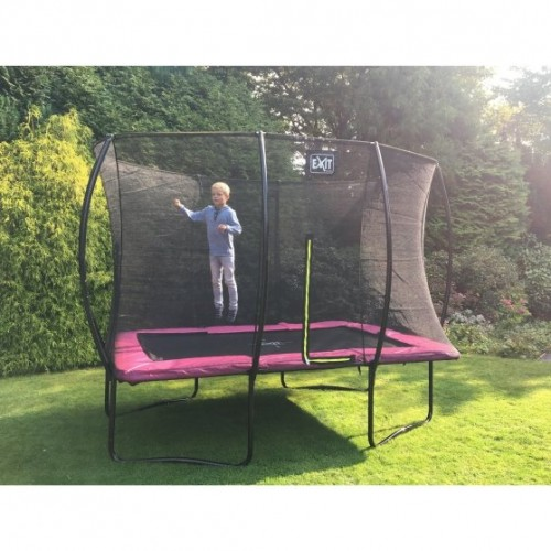 Trampolin Exit Silhouette |214x305cm| -pink-